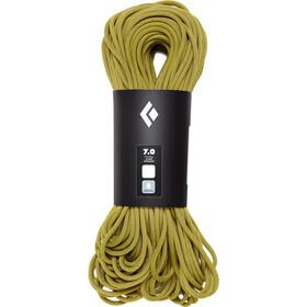 Black Diamond 7.0 Dry Touw 60m, geel